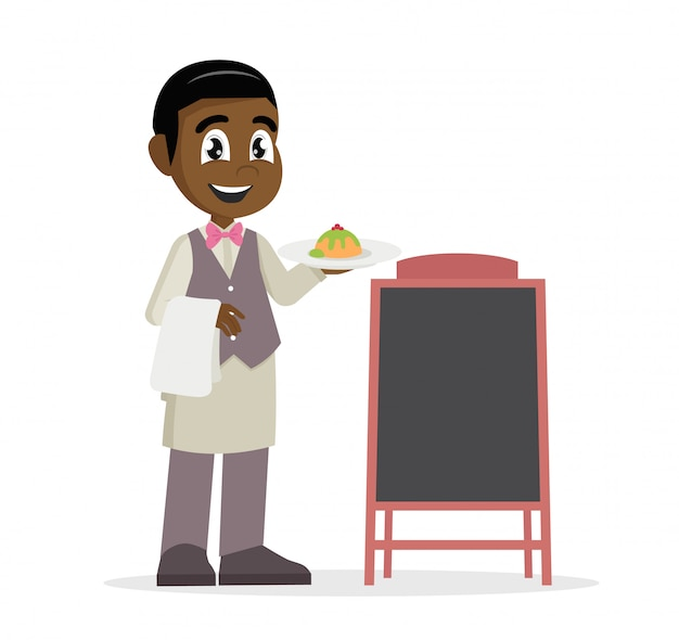 Chico africano camarero