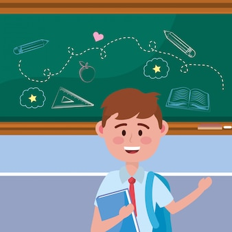Chico chico de la escuela