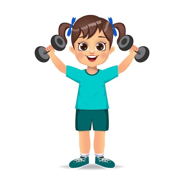 Chico guapo haciendo ejercicio con pesas