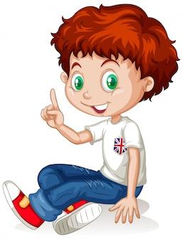 Chico inglés con el pelo rojo