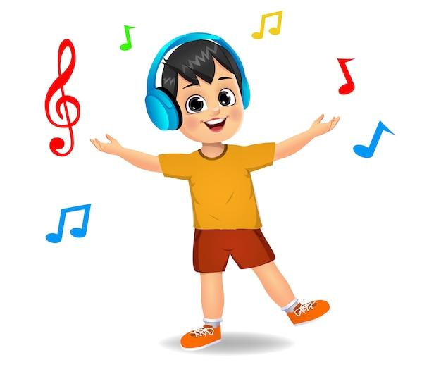 Chico lindo chico escuchando música