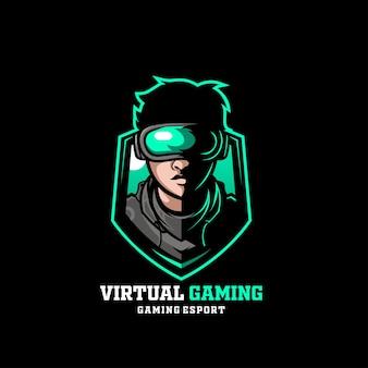 Chico de realidad de hombre de juegos virtuales