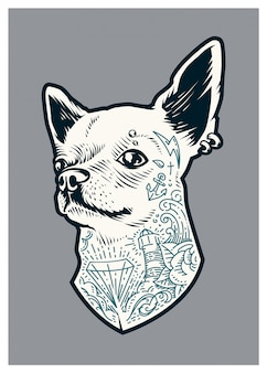 Chihuahua tatuada