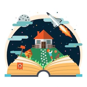 Childs libro de cuentos