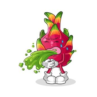 Chili vomitar dibujos animados. mascota de dibujos animados