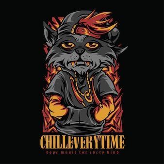 Chill everytime hiphop style illustration