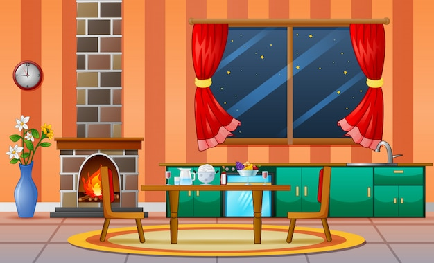Chimenea sala de estar casa familiar muebles de interior