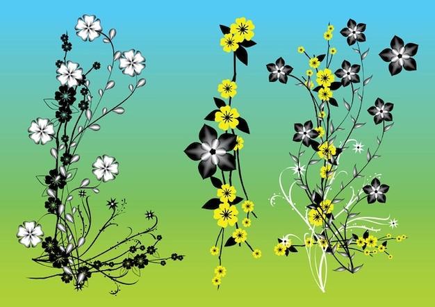 Chino flores de arte vectorial