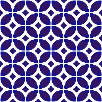 Chino de patrones sin fisuras azul y blanco