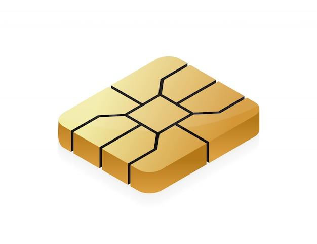 Chip emv de tarjeta de crédito para seguridad financiera.
