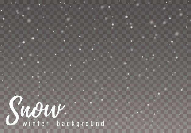 Las chispas blancas y las estrellas brillan con efecto de luz especial. nieve. destello