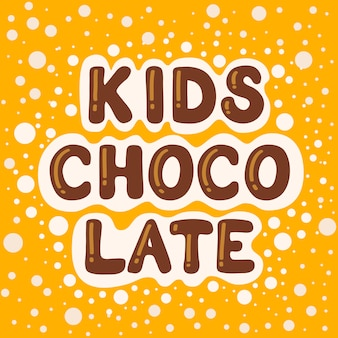 Chocolate para niños