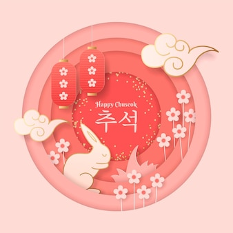 Chuseok en papel