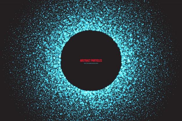 Cian shimmer partículas brillantes resumen antecedentes