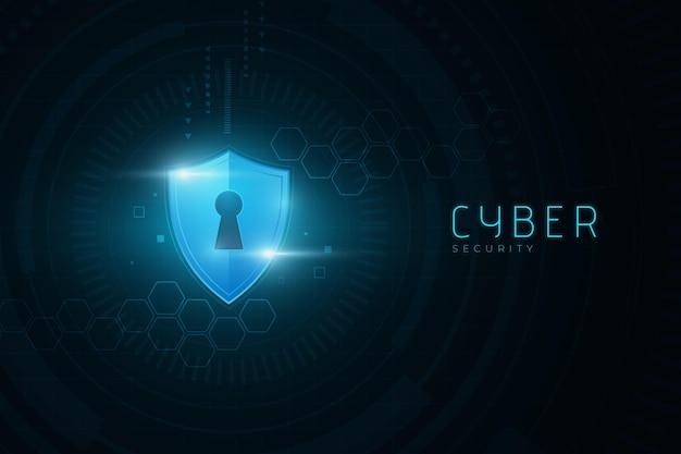Ciberseguridad con concepto de cerradura digital