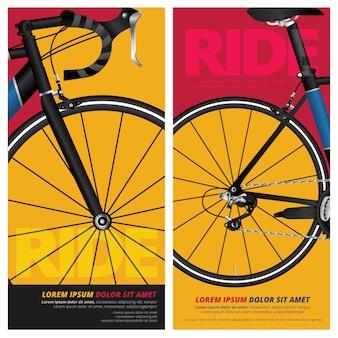 Ciclismo de bicicletas cartel vector illustration