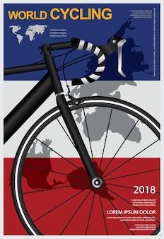 Ciclismo cartel diseño plantilla vector illustration