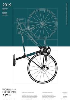 Ciclismo cartel plantilla de diseño