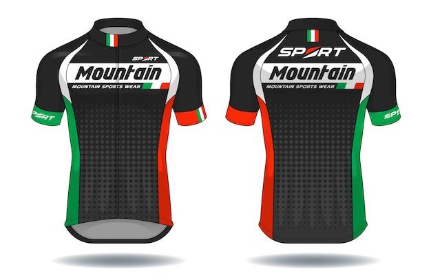 Ciclo jersey.sport desgaste protección equipo vector ilustración.