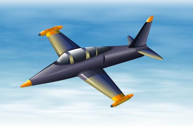 Un cielo con un avión de combate