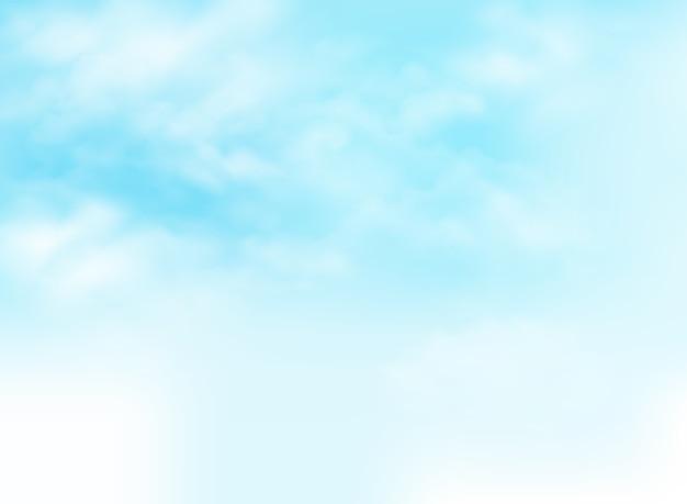 Cielo azul claro con el ejemplo del fondo del modelo de las nubes.