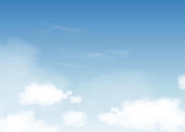 Cielo azul con nubes altostratus.