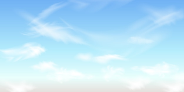 Cielo azul con nubes. antecedentes.