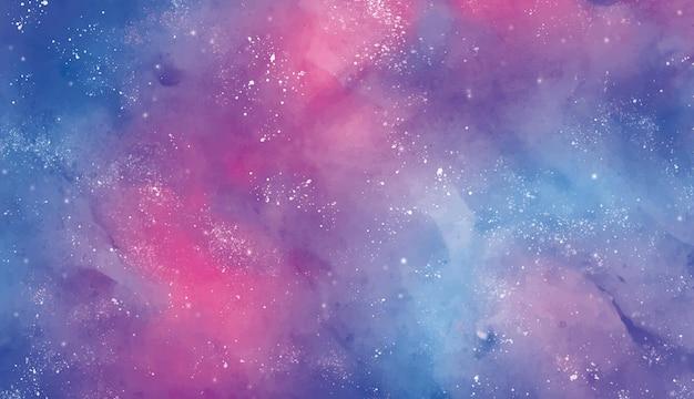 Cielo estelar de fondo en acuarela