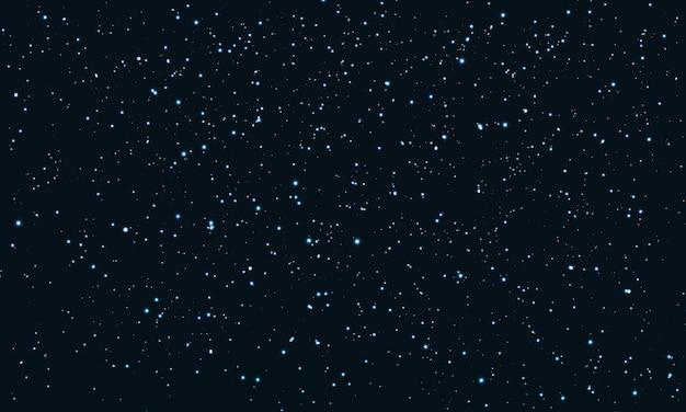 Cielo estrellado. fondo de estrellas espaciales partículas de brillo