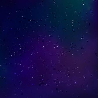 Cielo estrellado. nebulosa del universo. espacio exterior y vía láctea.