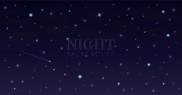 Cielo nocturno y desde las estrellas.