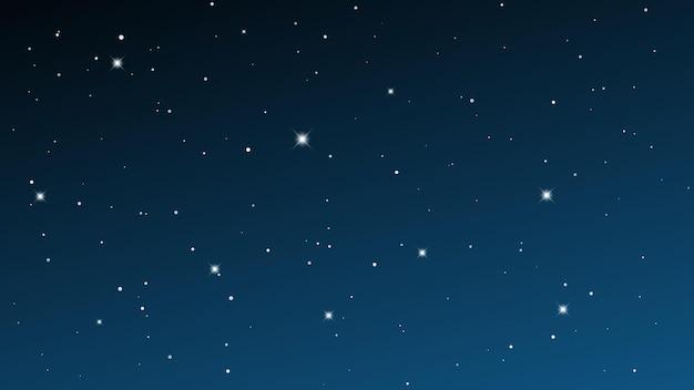 Cielo nocturno con muchas estrellas. fondo de naturaleza abstracta con polvo de estrellas en el universo profundo. ilustración vectorial.