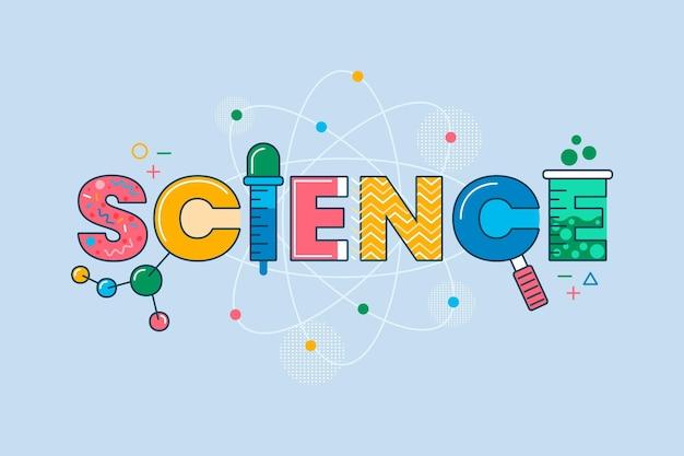 Ciencia colorida trabaja con moléculas