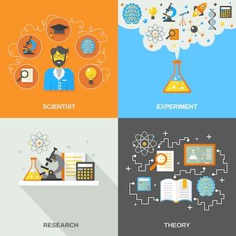 Ciencia e investigación plana