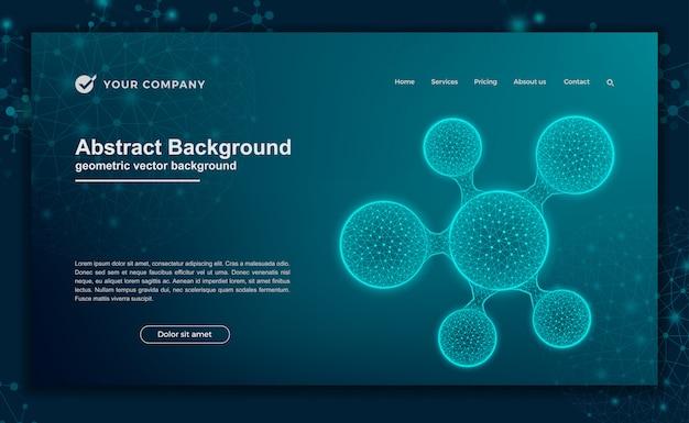 Ciencia, fondo futurista para el diseño de un sitio web o una página de destino.