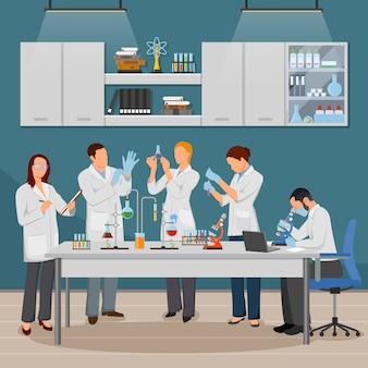 Ciencia y laboratorio de ilustración