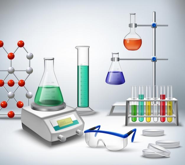 Ciencia química y equipos de investigación médica.