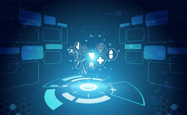 La ciencia de la salud abstracta consiste en la salud más la tecnología digital