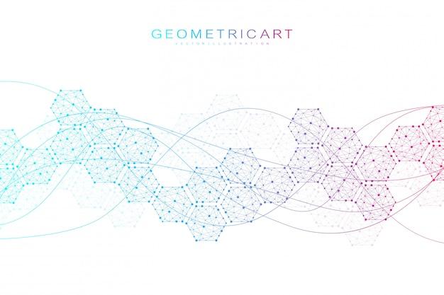 Ciencias de fondo abstracto hexagonal