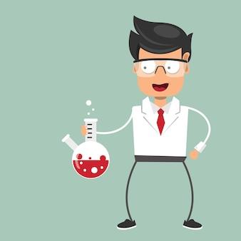 Científico en laboratorio