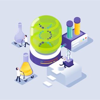 Científico trabajando en laboratorio