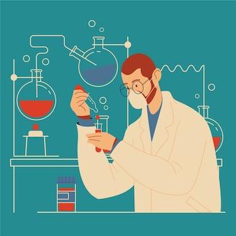 Científico trabajando