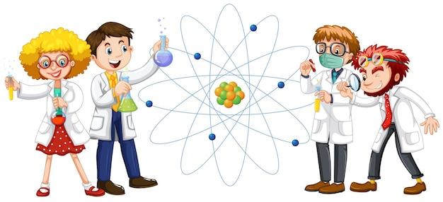 Científicos masculinos y femeninos