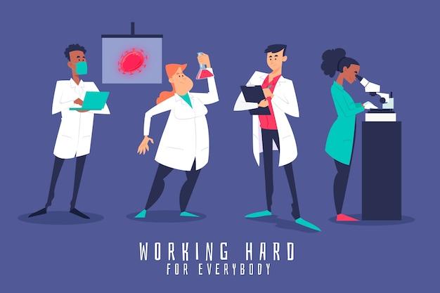 Científicos trabajando