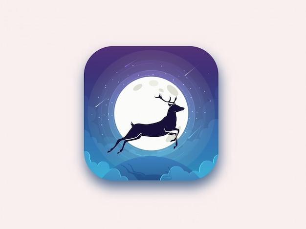 El ciervo salta de noche