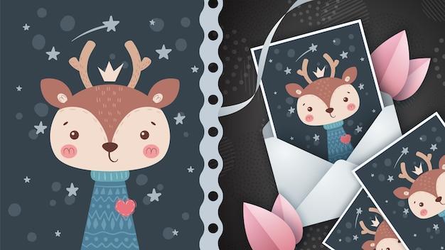 Ciervos del amor - idea para la tarjeta de felicitación