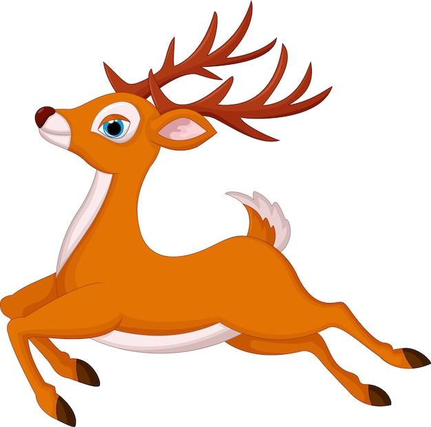 Ciervos de dibujos animados corriendo