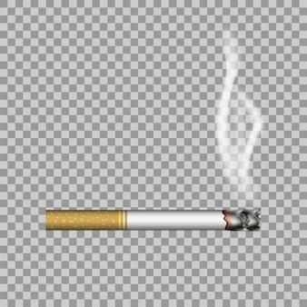 Cigarrillo realista y humo