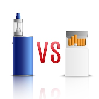 Cigarrillos vs vaping realista