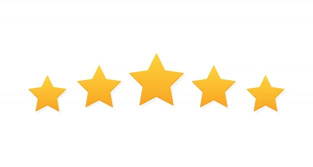 Cinco estrellas revisión de calificación del producto del cliente